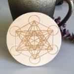 Charging-Grid-Sacred-geometry-Metatrons-Cube-alter-tools-engraved-wood-crystal-grid-plate-wooden-Coaster-Metatron